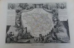 ATLAS LEVASSEUR 1852 CARTE(37X51):AUBE/MIGNARD/THENARD - Geographical Maps