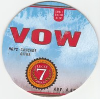 LUCKY 7 BEER CO (HAY-ON-WYE, WALES) - VOW - KEG CLIP FRONT (SEE DESCRIPTION) - Signs