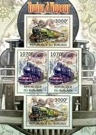 Burundi Block 2012 Dampflokomotiven Gezähnt  **/MNH - Treinen