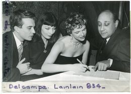 - Photo De Presse - Original - May F LODIN ( Miss Monde), Juliette GRECO, J Pierre  MELVILLE, 20-06-1952, TBE, Scans - Famous People