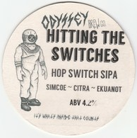 ODYSSEY BREW CO (WHITBOURNE, ENGLAND) - HITTING THE SWITCHES - KEG CLIP FRONT/BEERMAT (SEE DESCRIPTION) - Signs