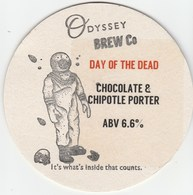 ODYSSEY BREW CO (WHITBOURNE, ENGLAND) - DAY OF THE DEAD - KEG CLIP FRONT/BEERMAT (SEE DESCRIPTION) - Signs