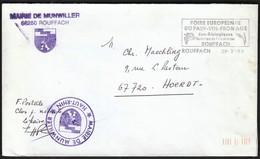France Rouffach 1990 / Mairie De Munwiller / Coat Of Arms / Wine Exhibition, Grape / Machine Stamp / EMA - 1961-....