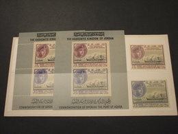 GIORDANIA -  1963 PORTO/NAVE 2 VALORI + 2 BF -NUOVI(++) - Giordania