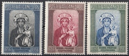 Vaticano 1956 Blf. 216-217-218 Madonna Nera Di Czestochowa Quadro Dipinto Icona Paintings MNH Full Set - Madonne
