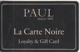 UK - PAUL, La Carte Noir, Magnetic Gift Card, Unused - Gift Cards