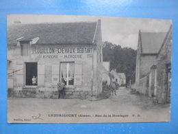 Carte Postale Landricourt, Rue De La Montagne, Commerce épicerie Mercerie - Marchands