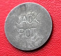 """Token Jeton De Machine à Sous """"Jack Pot""""  USA - Entertainment Casino Amusement Jeux - Professionnels/De Société"""