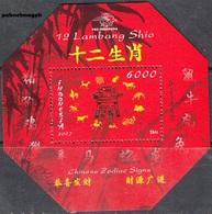 H92- Indonesia 2007. Twlve Lambang Shio. Chinese Zodiac Signs. - Indonesia