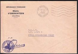 France Rouffach 1981 / Mairie De Oberentzen - Postmark Collection (Covers)