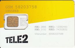 ESTONIA - TELE2 GSM, Mint - Estonia