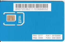 ESTONIA - TELE2 GSM(multi Sim), Mint - Estonia