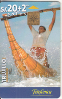 PERU - Trujillo 2(matt Surface), Teleffonica Telecard, Chip GEM1B, Tirage %75000, 08/00, Used - Peru