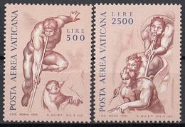 Vaticano 1976 Blf. 60-61Giudizio Universale (Angeli Che Annunciano Fine Dei Tempi) Affresco Dipinto Michelangelo  MNH - Religione