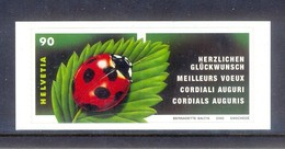 H111- Switzerland Schweiz Suisse 2002. Greeting Stamps. Insects. Ladybug. - Other