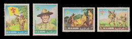 Ras Al Khaima Set Of 4 Multicolored Stamps (1967) Boy Scout Jamboree,  Mint Never Hinged - Ras Al-Khaima