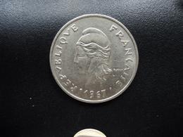 POLYNÉSIE FRANÇAISE : 20 FRANCS  1967   KM 6 / G.89 *   SPL - French Polynesia