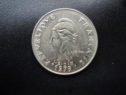 POLYNÉSIE FRANÇAISE : 20 FRANCS  1979   KM 9 / G.99 *    SUP - Polynésie Française