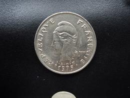 POLYNÉSIE FRANÇAISE : 20 FRANCS  1975   KM 9    SUP - French Polynesia