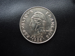 POLYNÉSIE FRANÇAISE : 20 FRANCS  1986   KM 9    SUP+ - Polynésie Française