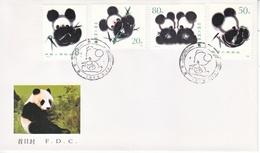 PRC  T  106   FDC   GIANT  PANDAS - 1949 - ... République Populaire