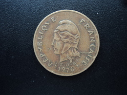 POLYNÉSIE FRANÇAISE : 100 FRANCS  1976   KM 14 / G.124    TTB - French Polynesia