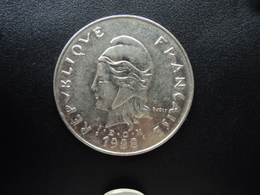 POLYNÉSIE FRANÇAISE : 50 FRANCS  1988   KM 13    SUP - French Polynesia