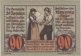 Austria 90 Heller 31-1-1921, St. Johann (Tirol) 898a UNC - Austria