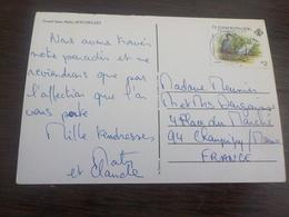CPSM  AFRIQUE TIMBRE DES SEYCHELLES SUR CARTE DE GRANDE ANSE MAHE / VOYAGEE TIMBREE NICE STAMPS - Seychelles