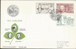 V) 1974, SWEDEN, ANNIVERSARY OF CARL DANIEL EKMAN, HANS JARTA AND SAMUEL OWEN, FIRST DAY COVER, CIRCULATED FROM SWEDEN T - Other