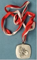 Medaille / Plakette  Radball / Radsport  -  Frankreich Geißbolsheim 1984  -  Ca. 45 X 45 Mm Größe - Radsport
