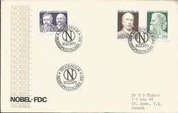V) 1973, SWEDEN, STAMP OF WERNER.KAMERLINGH-ONNES, RICHET.NOBELPRIS, TAGORE NOBELPRIS, THREE SEALS OF CANCELLATION, NOBE - Other