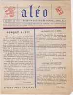 PORTUGAL - BOLETIM DAS EDIÇÕES GAMA - LISBOA  - ALÉO - Nº1 -  1942 - Magazines