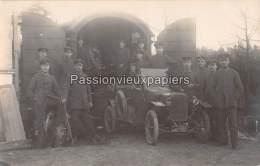 CARTE PHOTO ALLEM. SPA  1918 CAMION Du SERVICE DE TRANSMISSION ALLEMAND DE LA COMMISSION DE CESSEZ LE FEU INTERNATIONALE - Spa