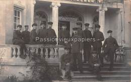 CARTE PHOTO ALLEMANDE  SPA  1918 SERVICE DE TRANSMISSION ALLEMAND DE LA COMMISSION DE CESSEZ LE FEU INTERNATIONALE - Spa