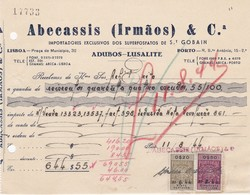 PORTUGAL COMMERCIAL INVOICE - ADUBOS - PORTO   - FISCAL STAMPS - Portugal