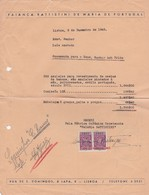 PORTUGAL COMMERCIAL INVOICE - FAIANÇA BATTISTINI DE MARIA DE PORTUGAL - LISBOA    - FISCAL STAMPS - Portugal