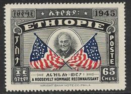 Ethiopia Scott # 280 MNH Selassie And Roosevelt, 1947 - Ethiopia