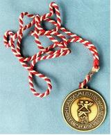 Medaille / Plakette  Landesmeisterschaft Tanzsportverband 1985  -  Ca. 41 Mm Durchmesser - Sports