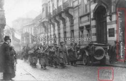 CARTE PHOTO ALLEMANDE SPA  1918  LES ALLEMANDS EN RETRAITE MUSIQUE  FANFARE - Spa