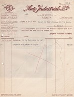 PORTUGAL COMMERCIAL INVOICE - AUTO INDUSTRIAL - COIMBRA - CHEVROLET - OPEL . OLDSMOBILE - VAUXHALL - BEDFORD - Portugal