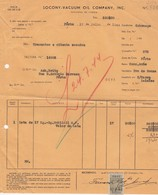 PORTUGAL COMMERCIAL INVOICE - SOCONY - VACUUM  OIL  COMPANY  - LISBOA  - FISCAL STAMPS - Portugal