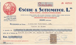 PORTUGAL COMMERCIAL INVOICE - OSÓRIO & SOTTOMAYOR - PORTO   - FISCAL STAMPS - Portugal