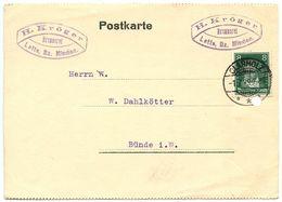 Germany 1929 Postcard Clarholz - H. Kröger, Brennerei, Scott 354 Beethoven - Germany
