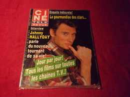 CINE TELE REVUE  No 11 13 MARS 1986  COUVERTURE JOHNNY HALLYDAY - People