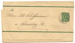 Germany 1890's 3pf. Wrapper Münster To Schneeberg - Germany