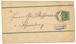 Germany 1890 3pf Wrapper Schneeberg-Neustädtel To Schneeberg - Entiers Postaux