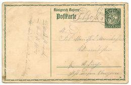 Germany-Bavaria 1914 WWI Postal Card FELD-POSTEXPED K.B.V., INFANT-DIVISION - Bavaria