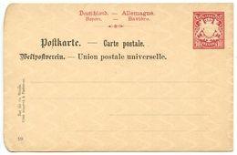 Germany - Bavaria 19th C. Mint 10pf. Coat Of Arms Postal Card - Bavaria
