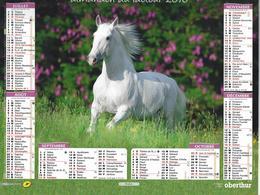 Almanach Des PTT 2016 - Chevaux ( Recto-verso ) Etat Neuf - Calendars